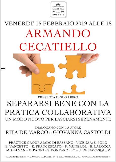 Armando Cecatiello incontro a Bassano Pratica Collaborativa Separazione Divorzio tutela patrimonio
